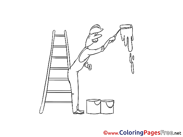 Painter printable Coloring Pages Invitation