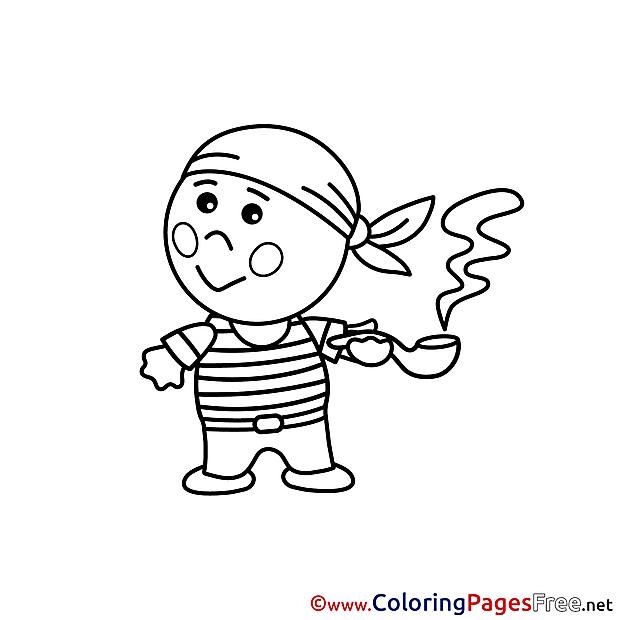 Pirate download Colouring Sheet free