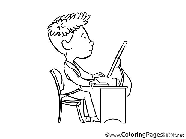 Programmer Coloring Pages Invitation