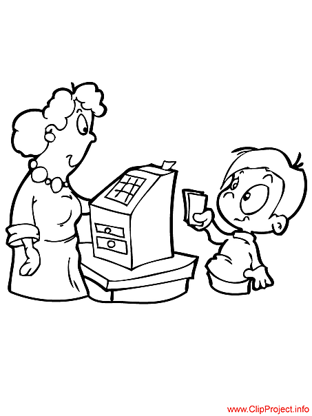 Shop coloring pages free