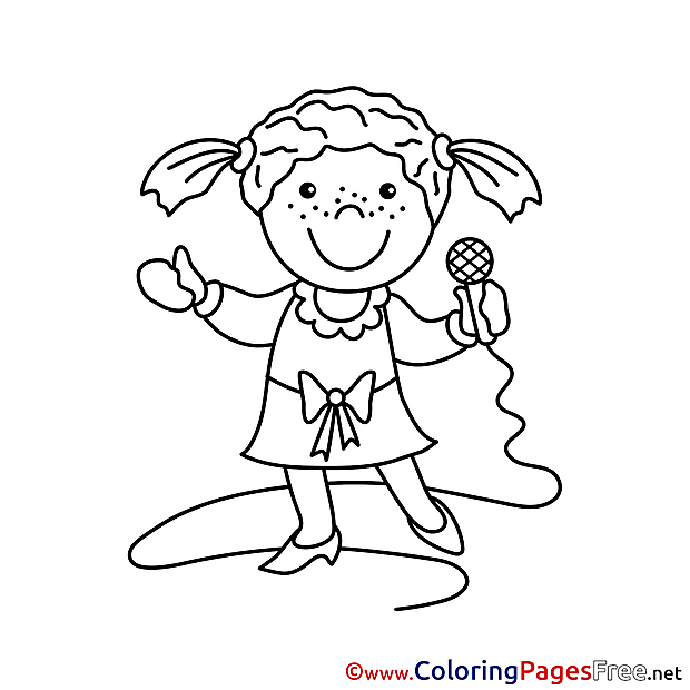 Singer Children download Colouring Page