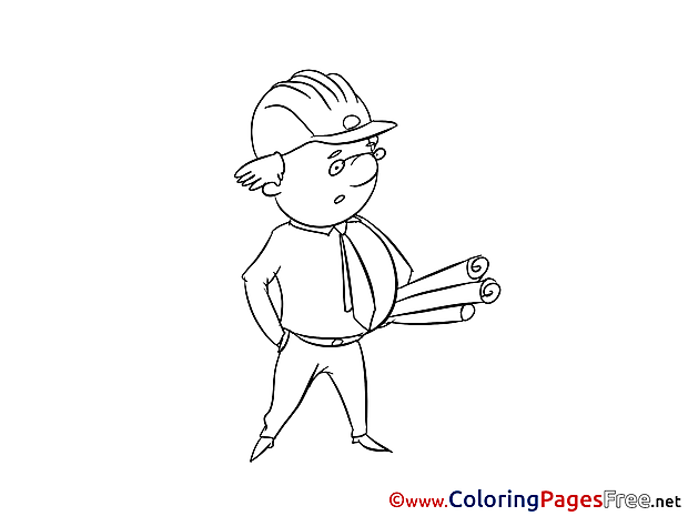 Supervisor Kids download Coloring Pages