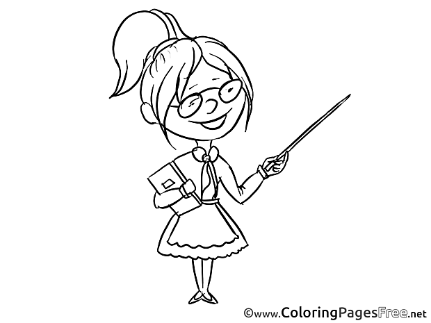 Teacher Kids download Coloring Pages