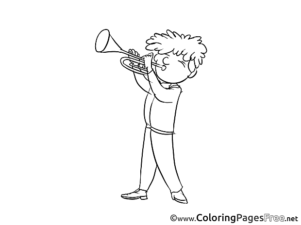 Trumpeter printable Coloring Sheets download