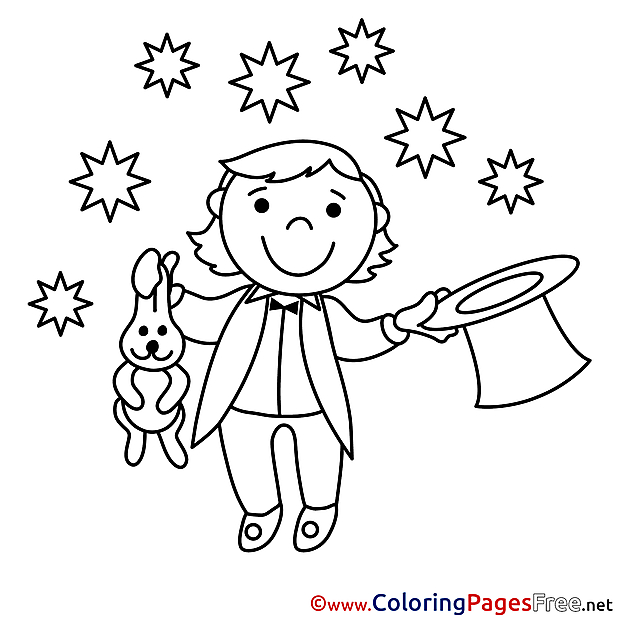 Wizard for Children free Coloring Pages
