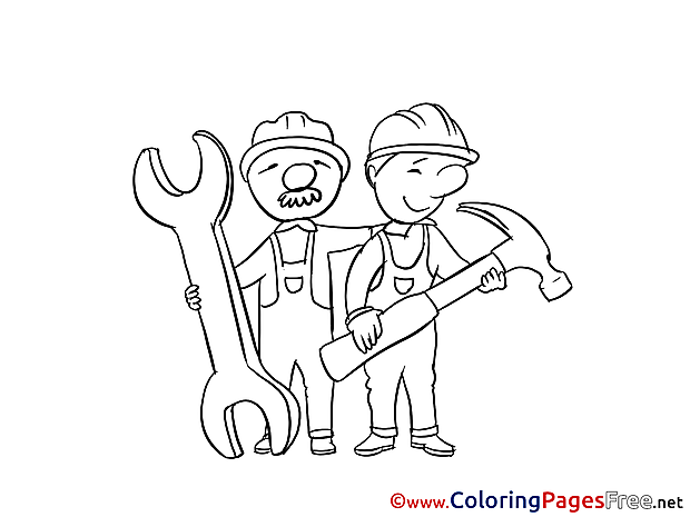 Workers download printable Coloring Pages