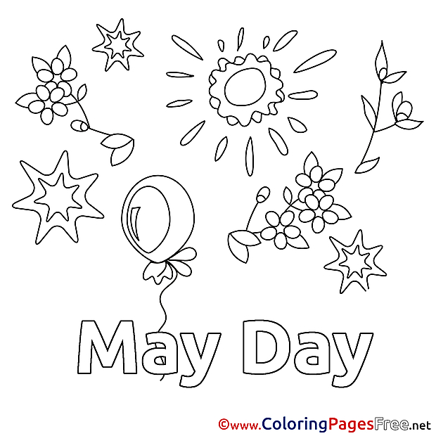 Holiday Colouring Sheet download Workers Day