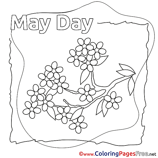 Lily printable Workers Day Coloring Sheets