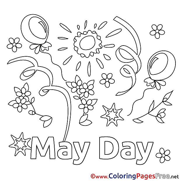 Sun Coloring Pages Workers Day