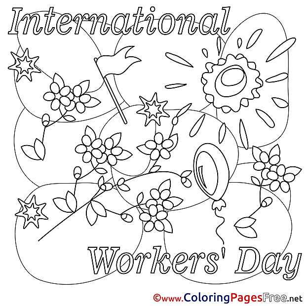 Sun Day free Coloring Pages