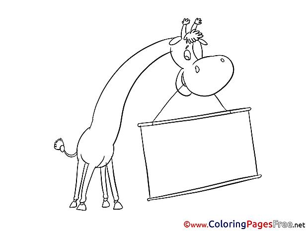 Giraffe Coloring Sheets download free