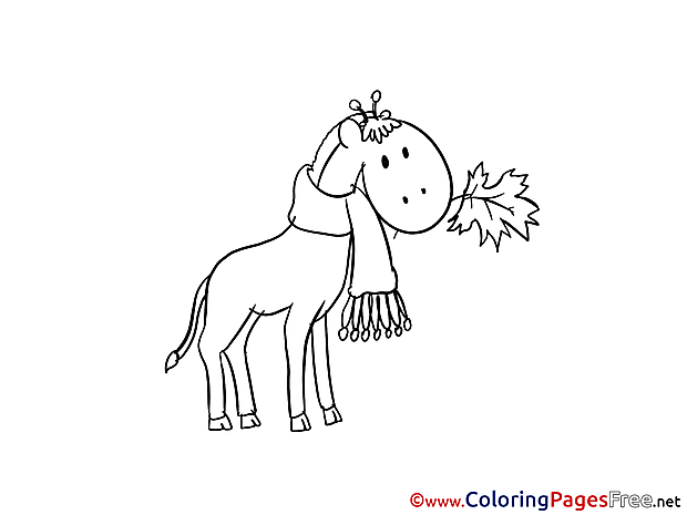 Giraffe download printable Coloring Pages