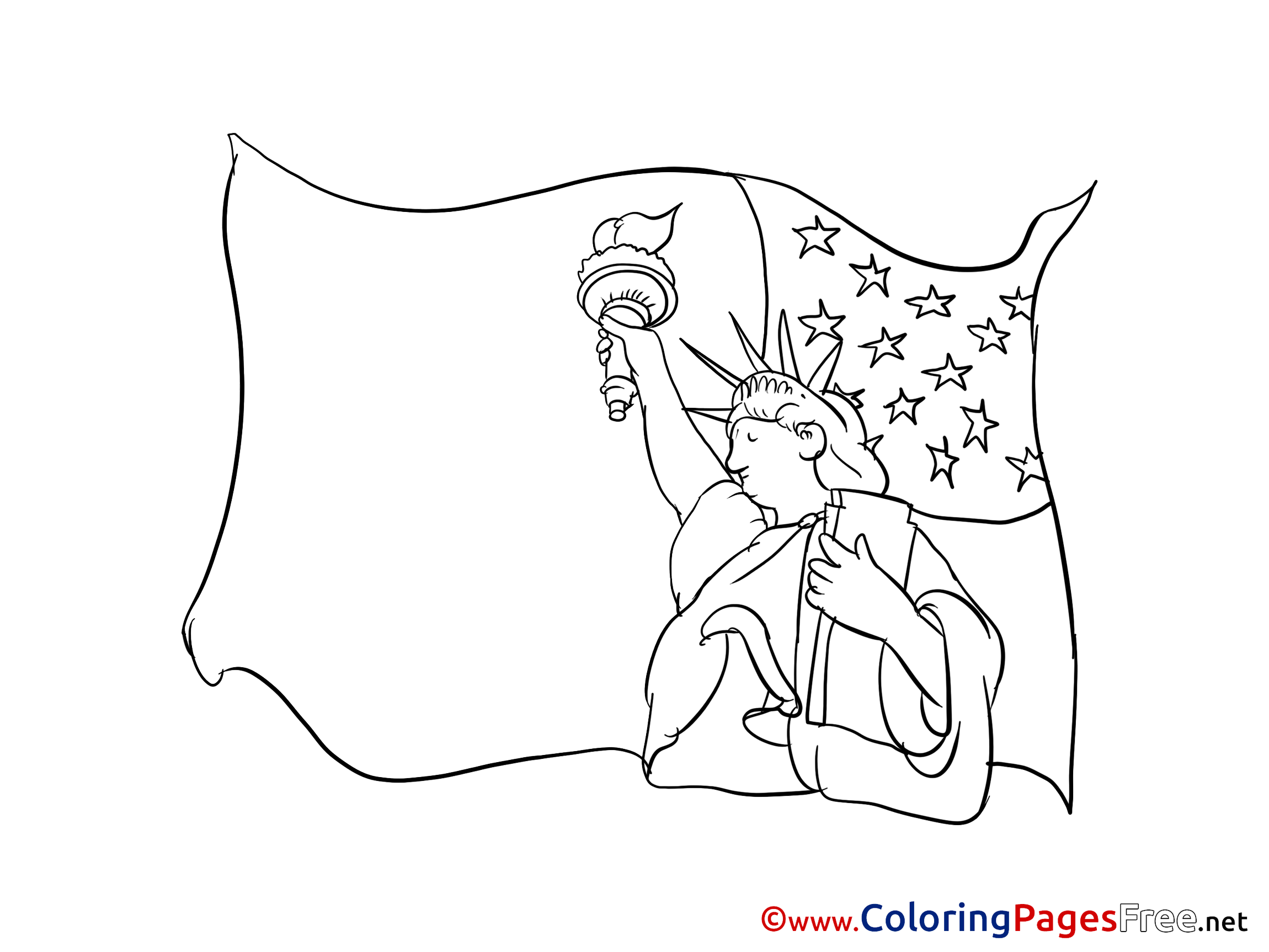 - Statue Of Liberty Colouring Page Printable Free