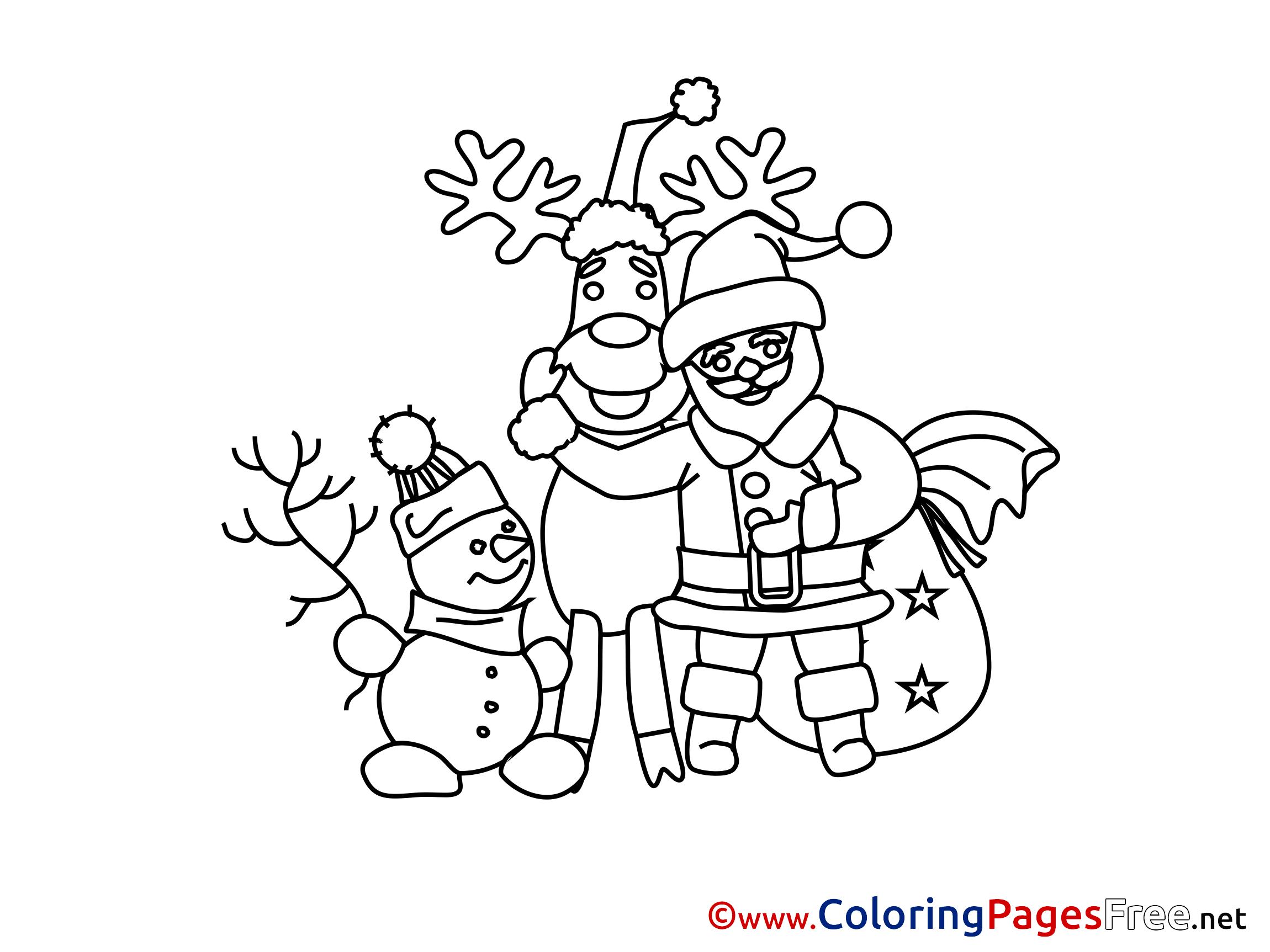 Santa Claus printable Advent Coloring Sheets