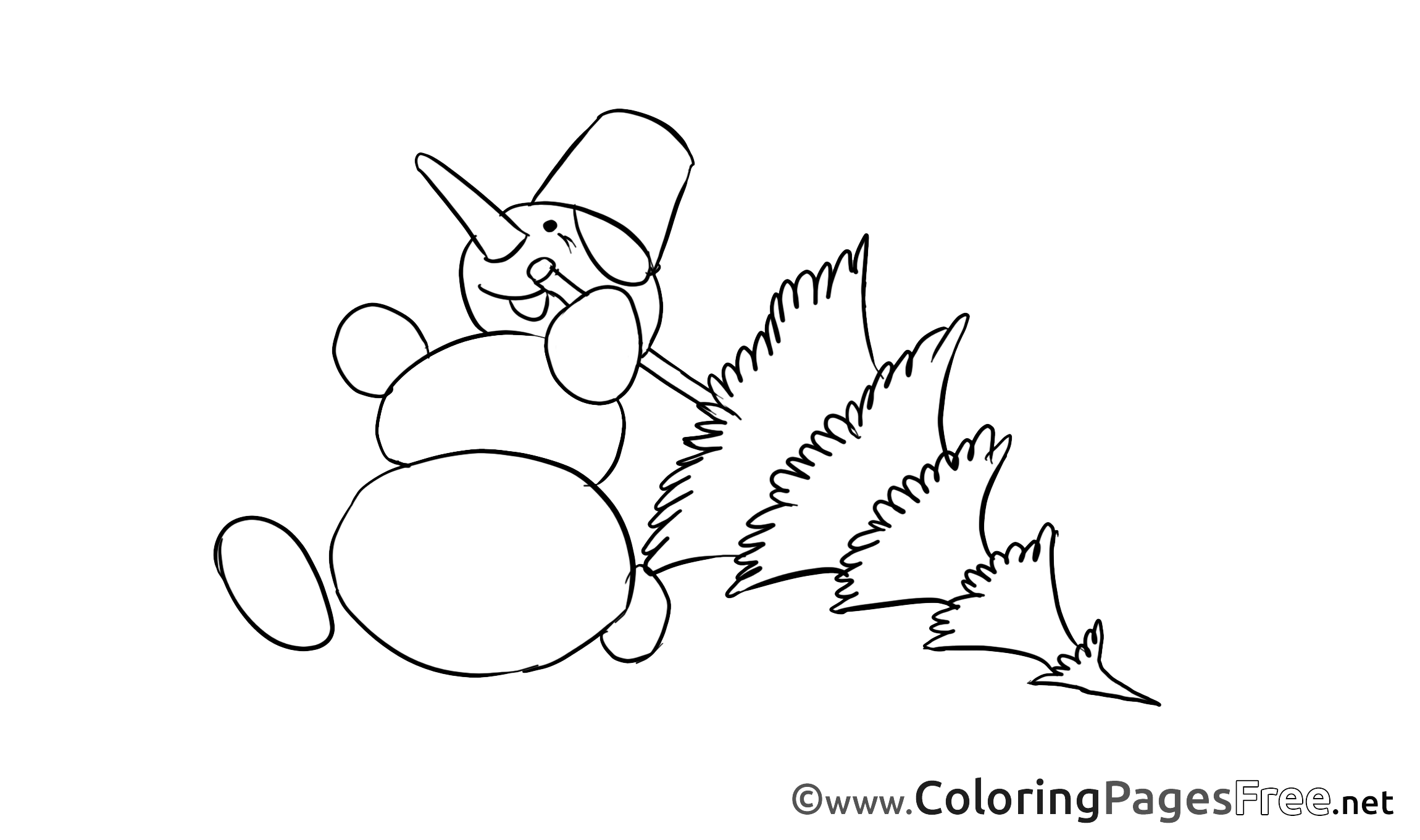 Snowman Kids Advent Coloring Pages