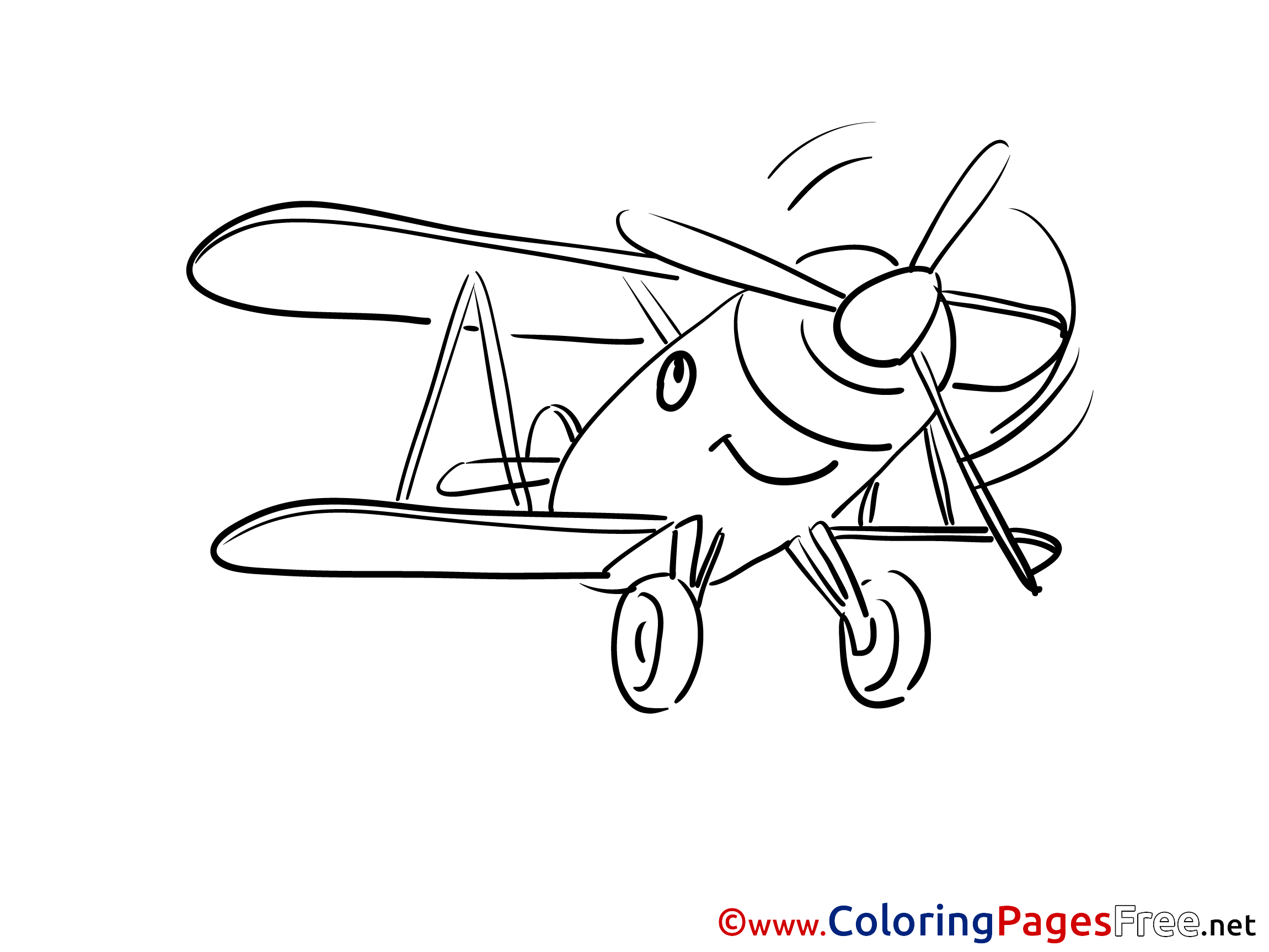 Voyage free printable Airplane Coloring Sheets