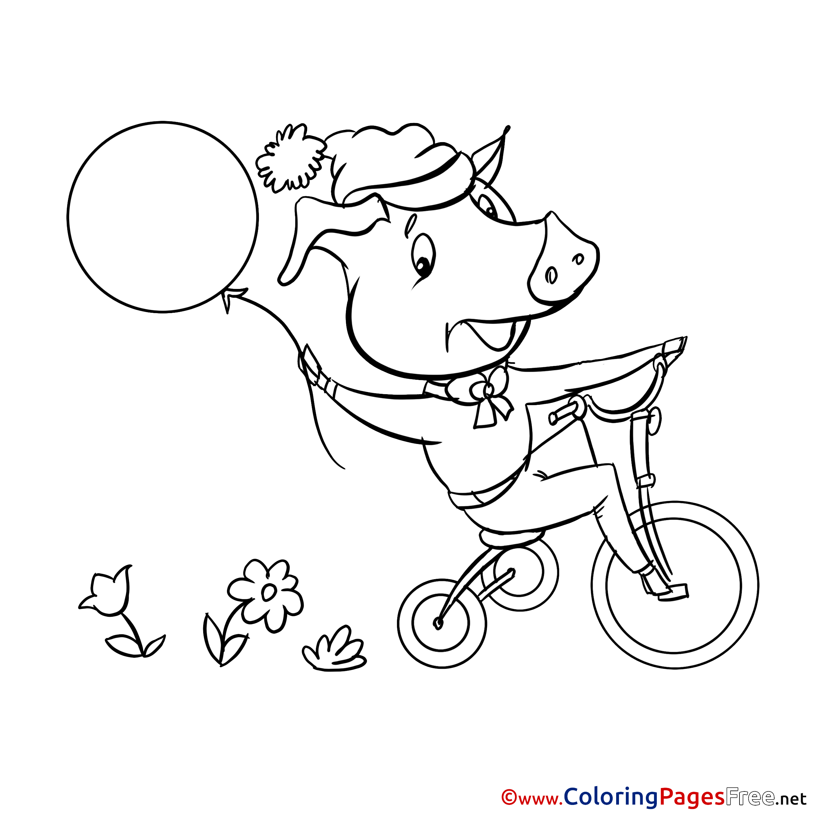 pig coloring pages for preschoolers - photo#30