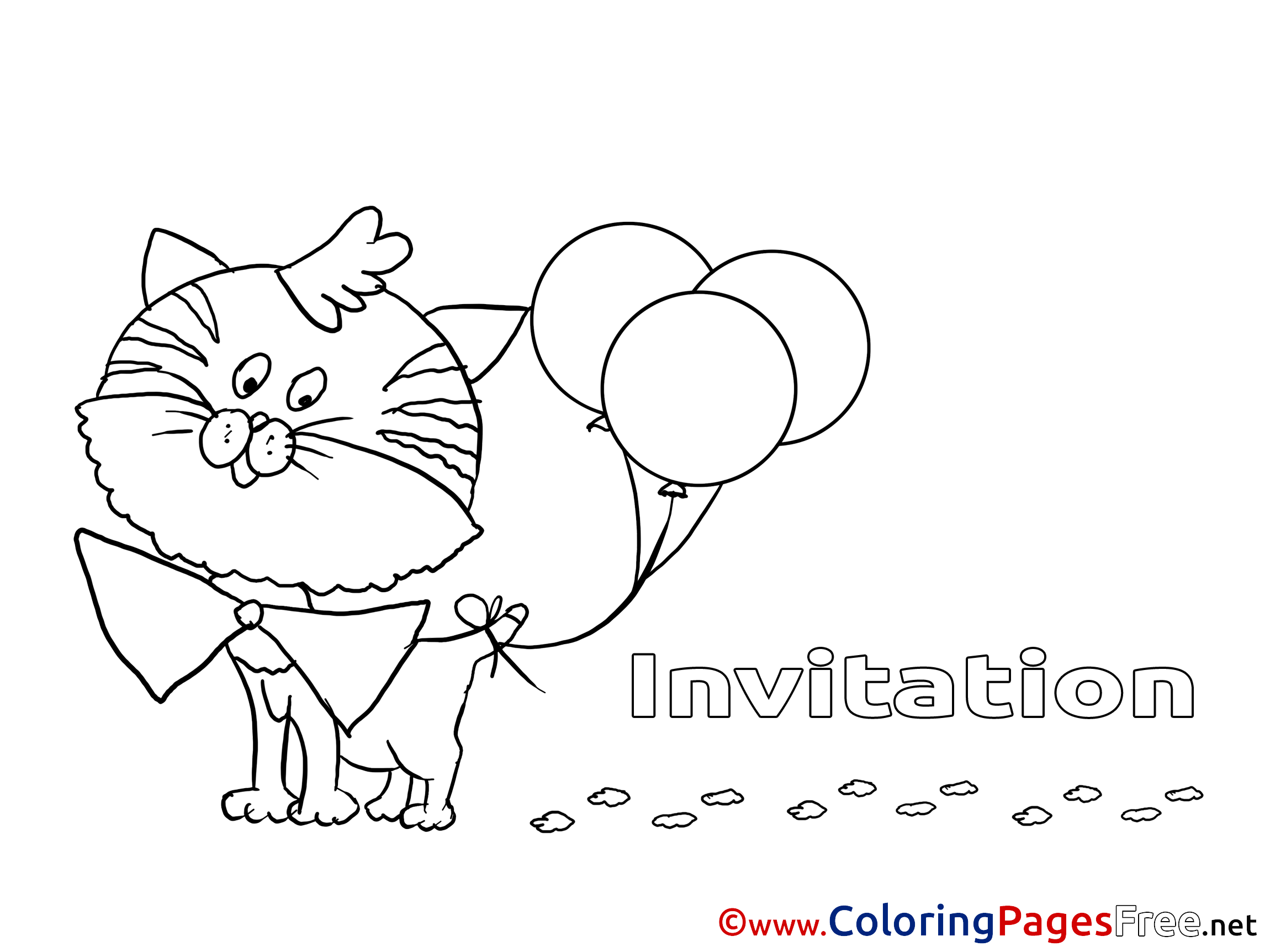 Balloons printable Coloring Pages Birthday
