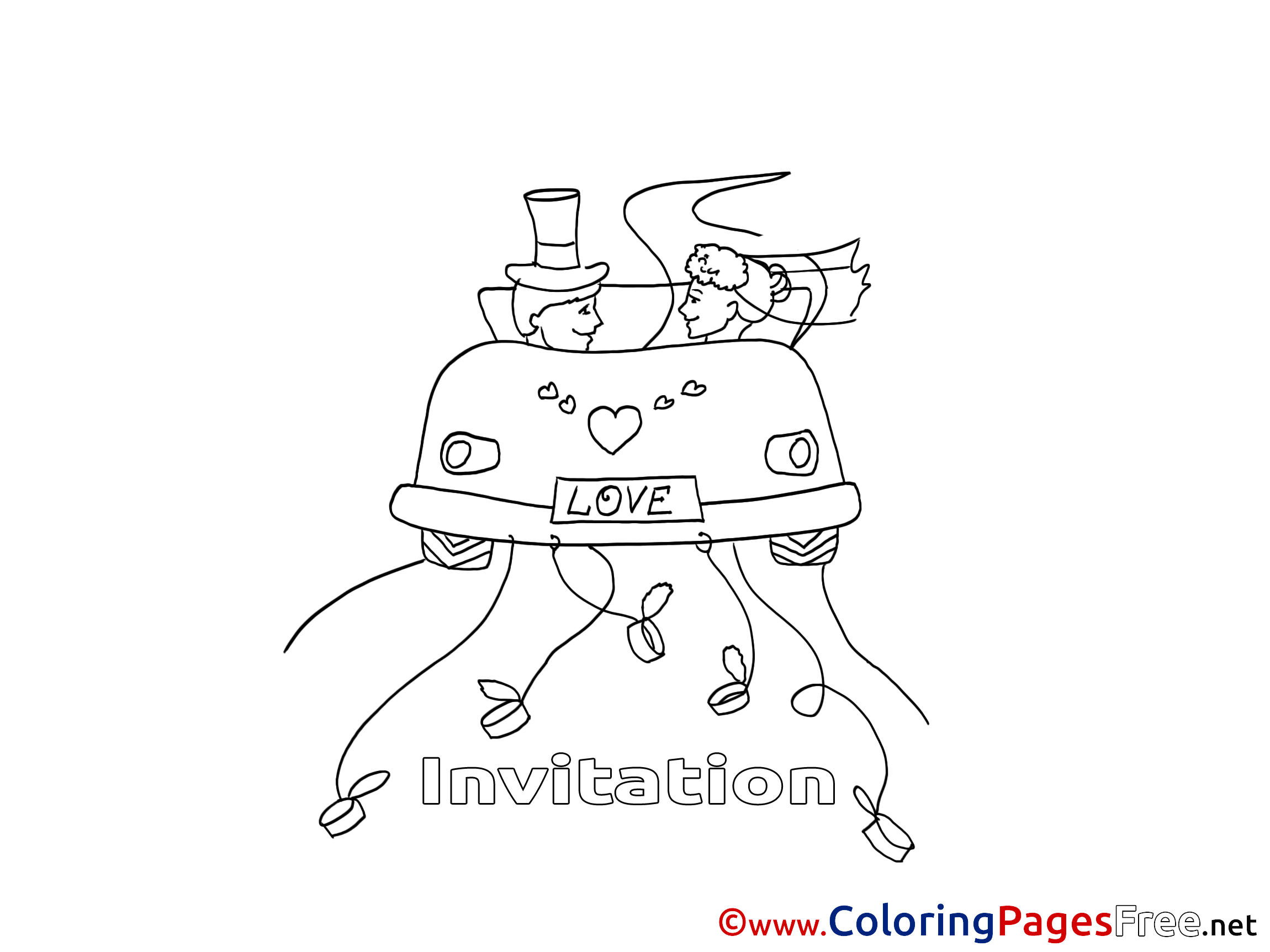 Couple Birthday Coloring Pages download