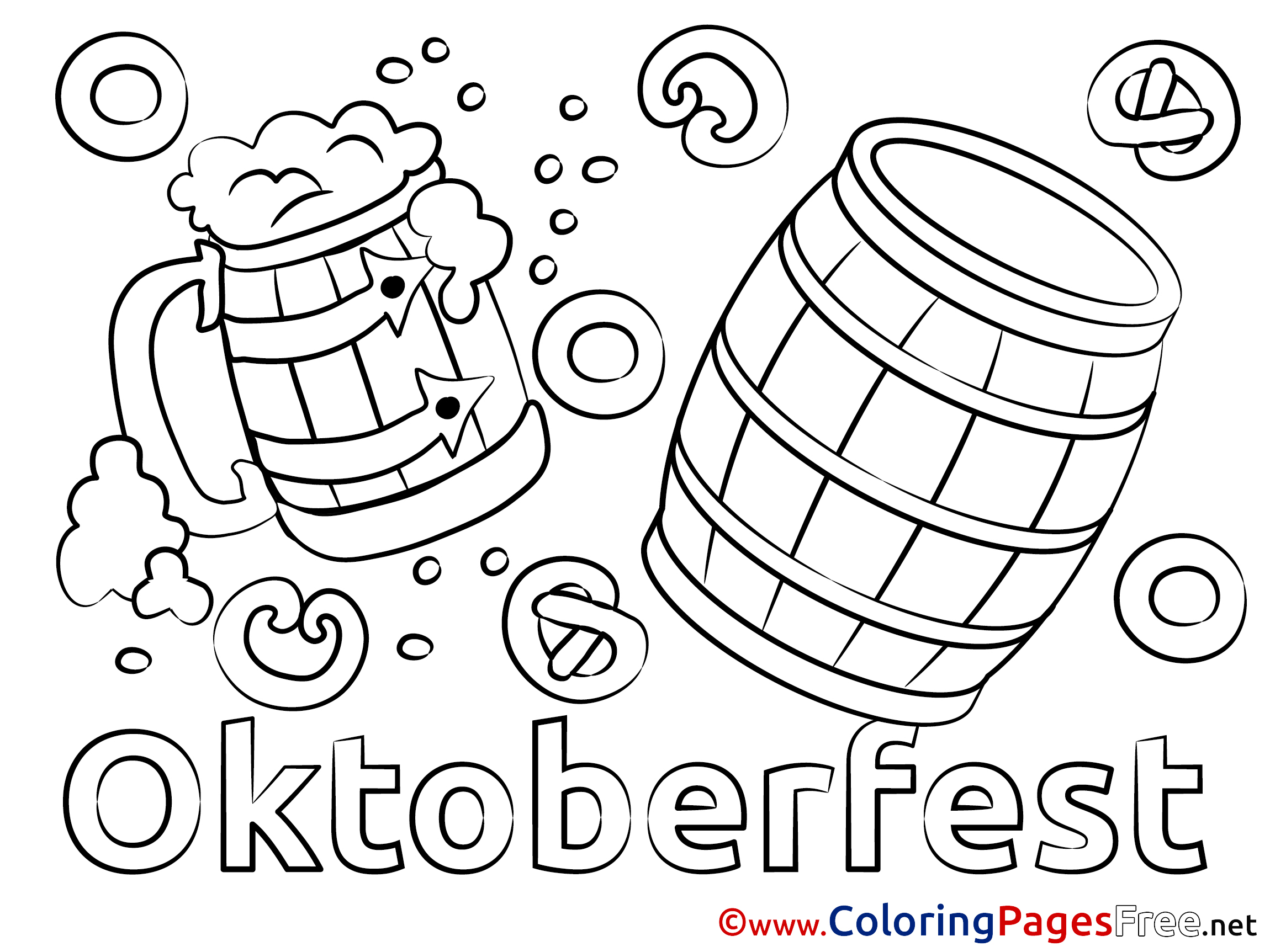 barrel oktoberfest coloring pages for free