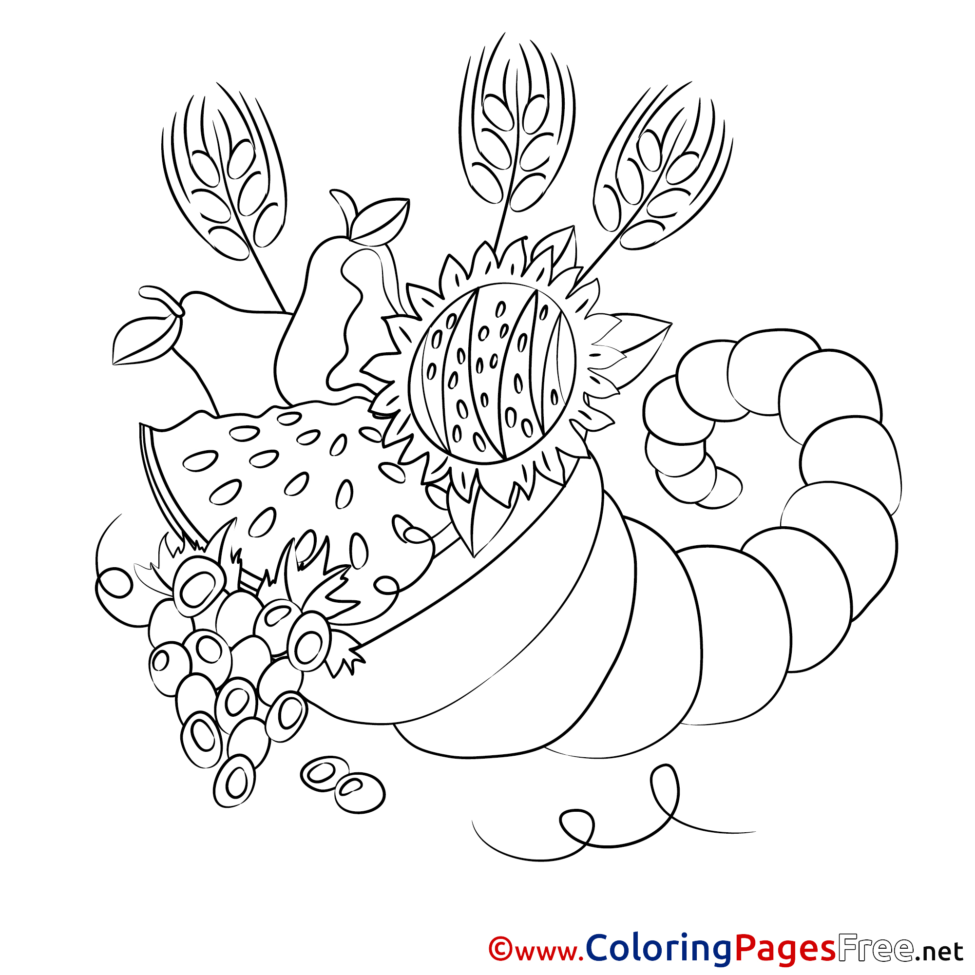 Harvest for Children free Coloring Pages