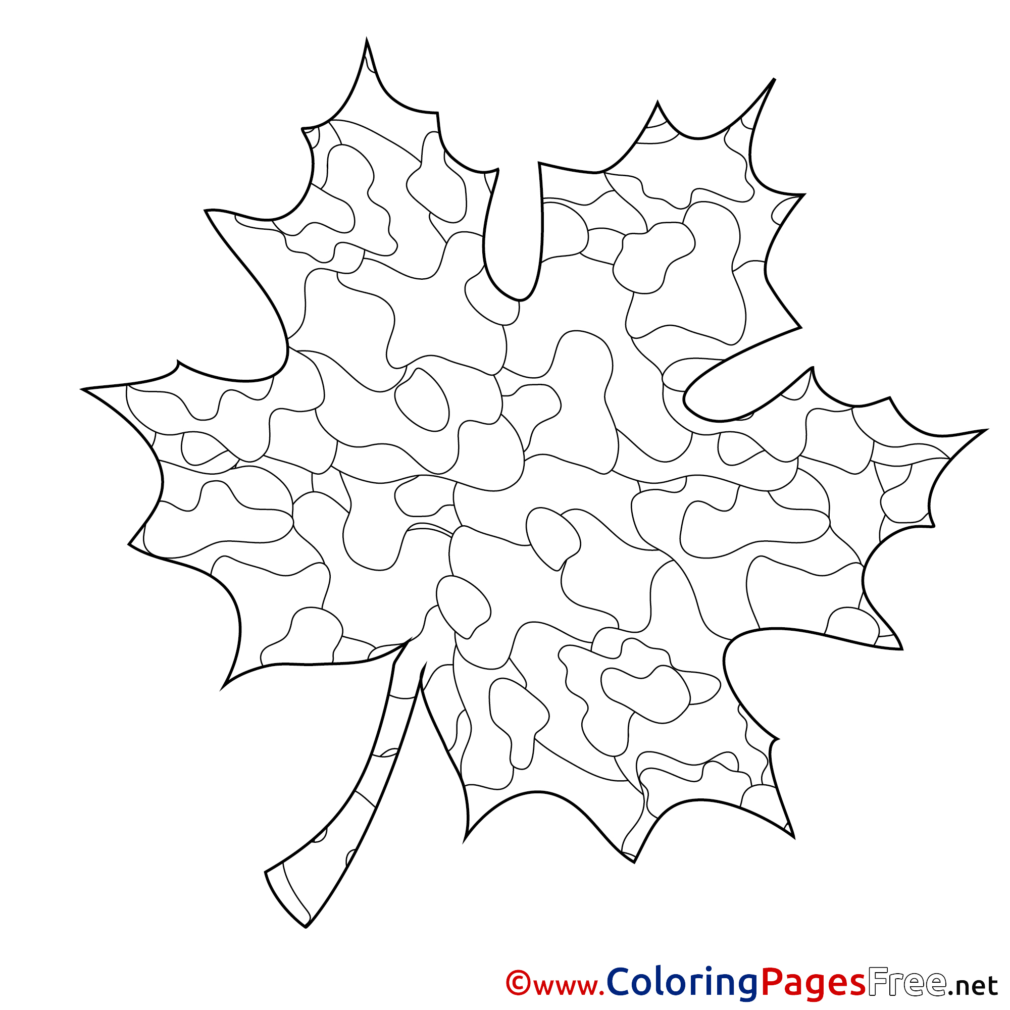 Maple Leaf for Children free Coloring Pages