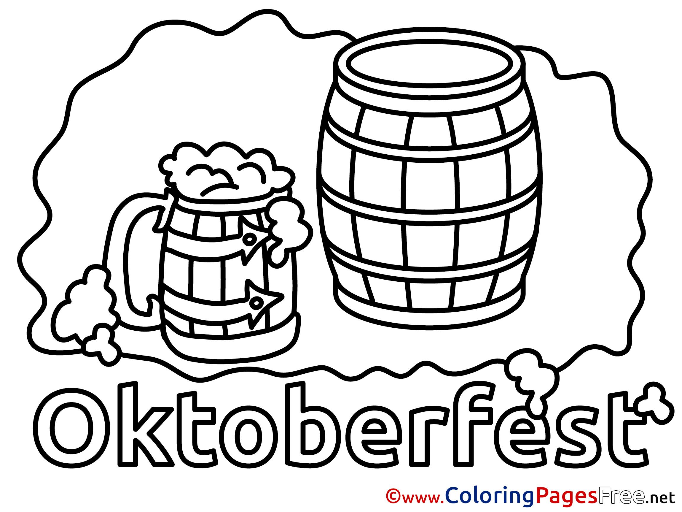 Mug Beer Free Printable Coloring Sheets