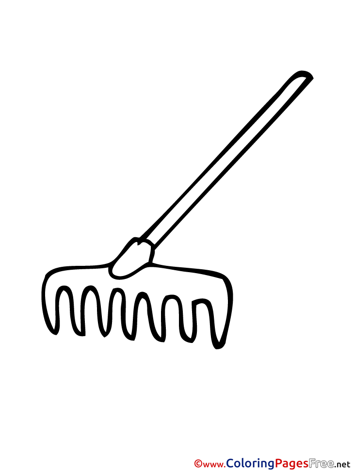 Rake download printable coloring pages for Rake coloring page