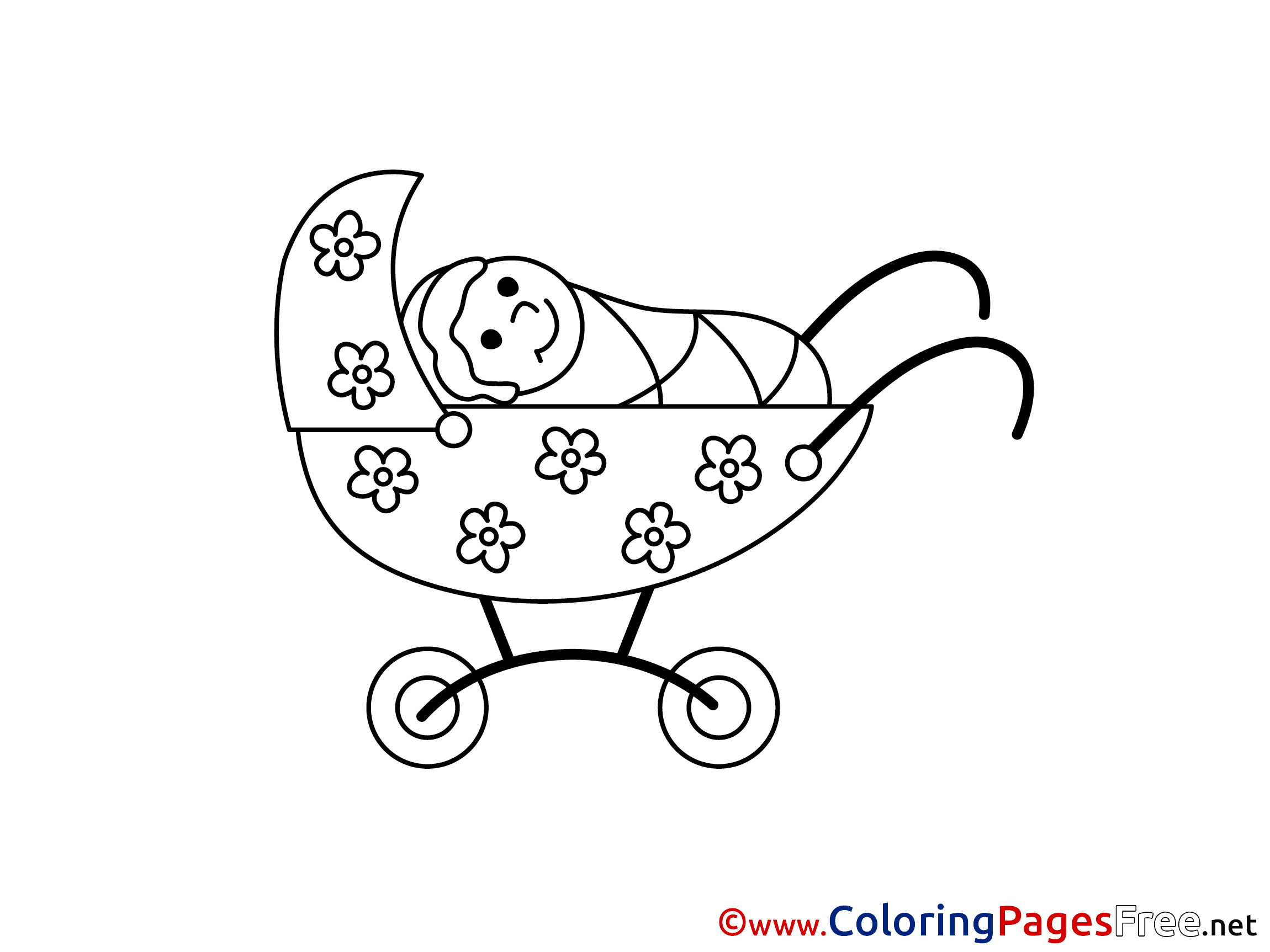 Baby Stroller Coloring Pages - Get Coloring Pages | 1725x2300