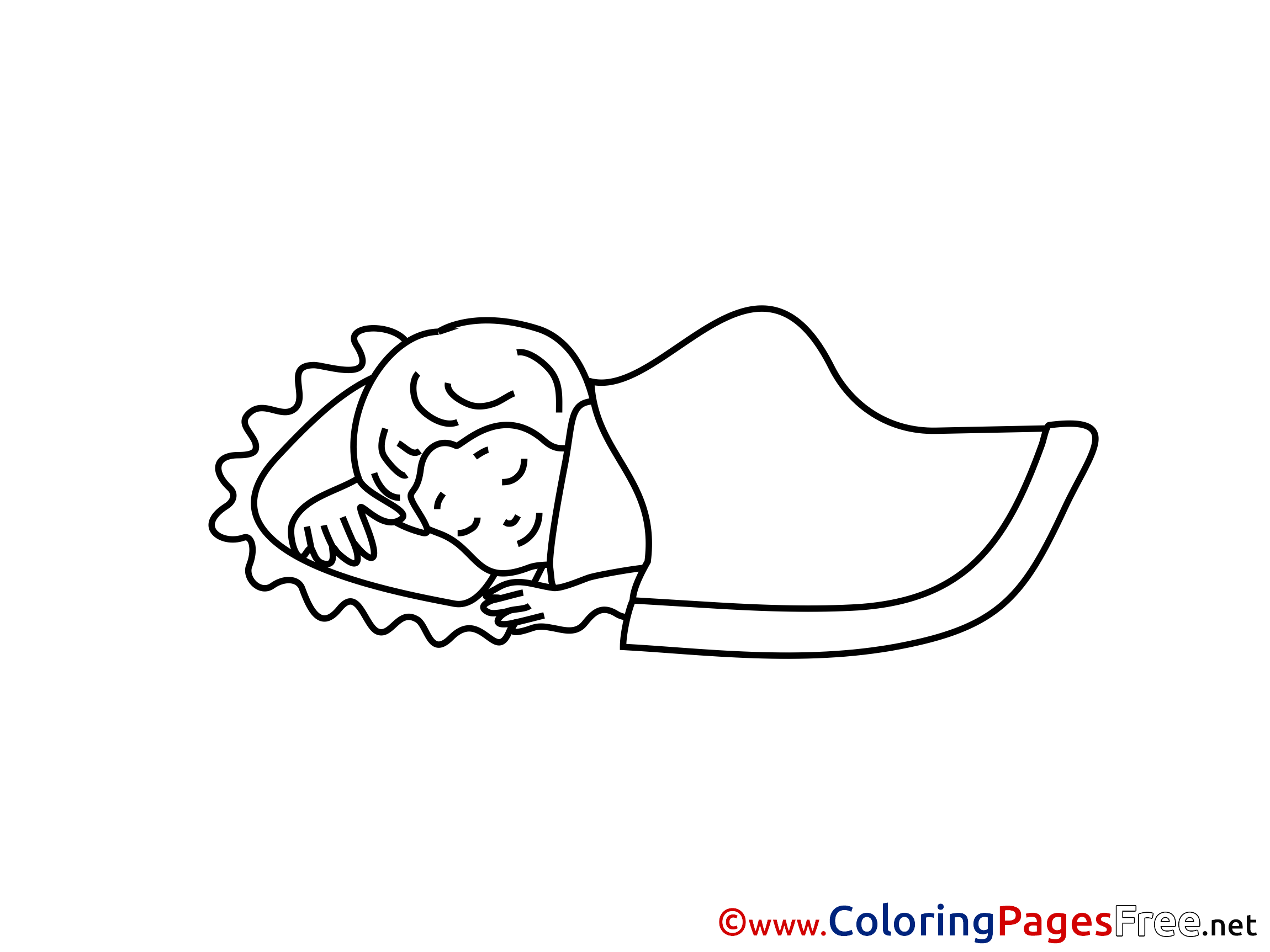 Sleep coloring pages for free for Sleeping coloring page