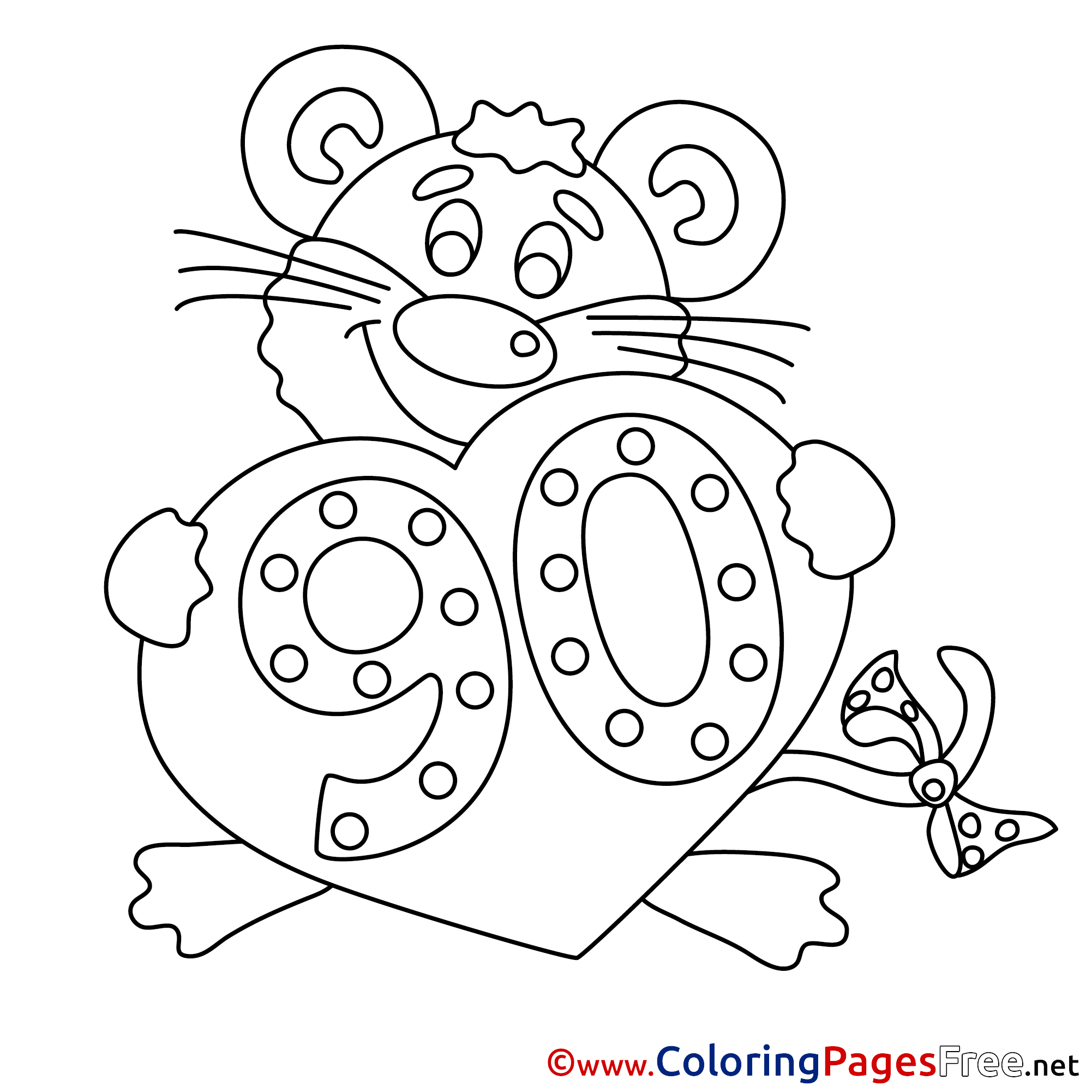 90 years coloring sheets happy birthday free