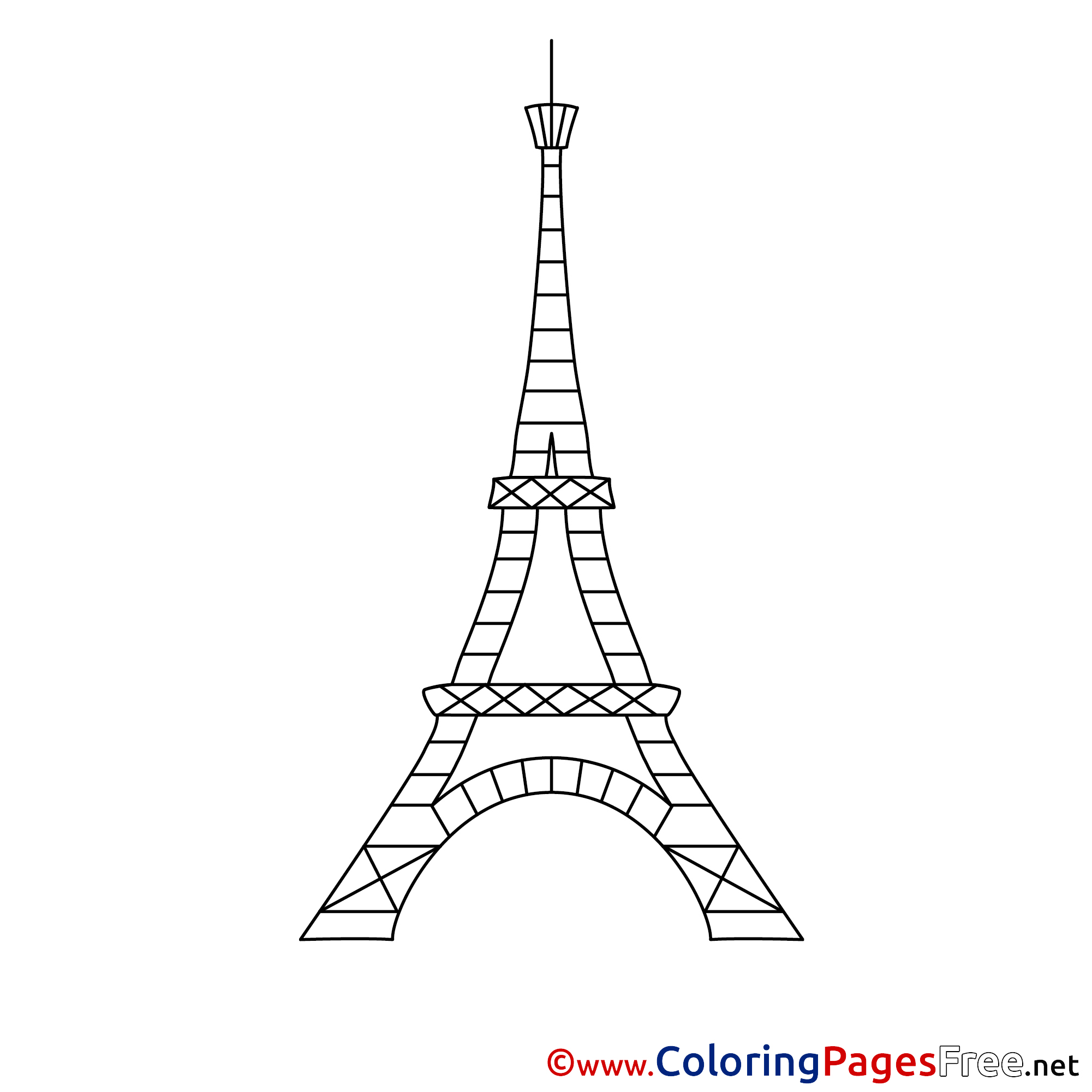 Eiffel tower children download colouring page altavistaventures Image collections