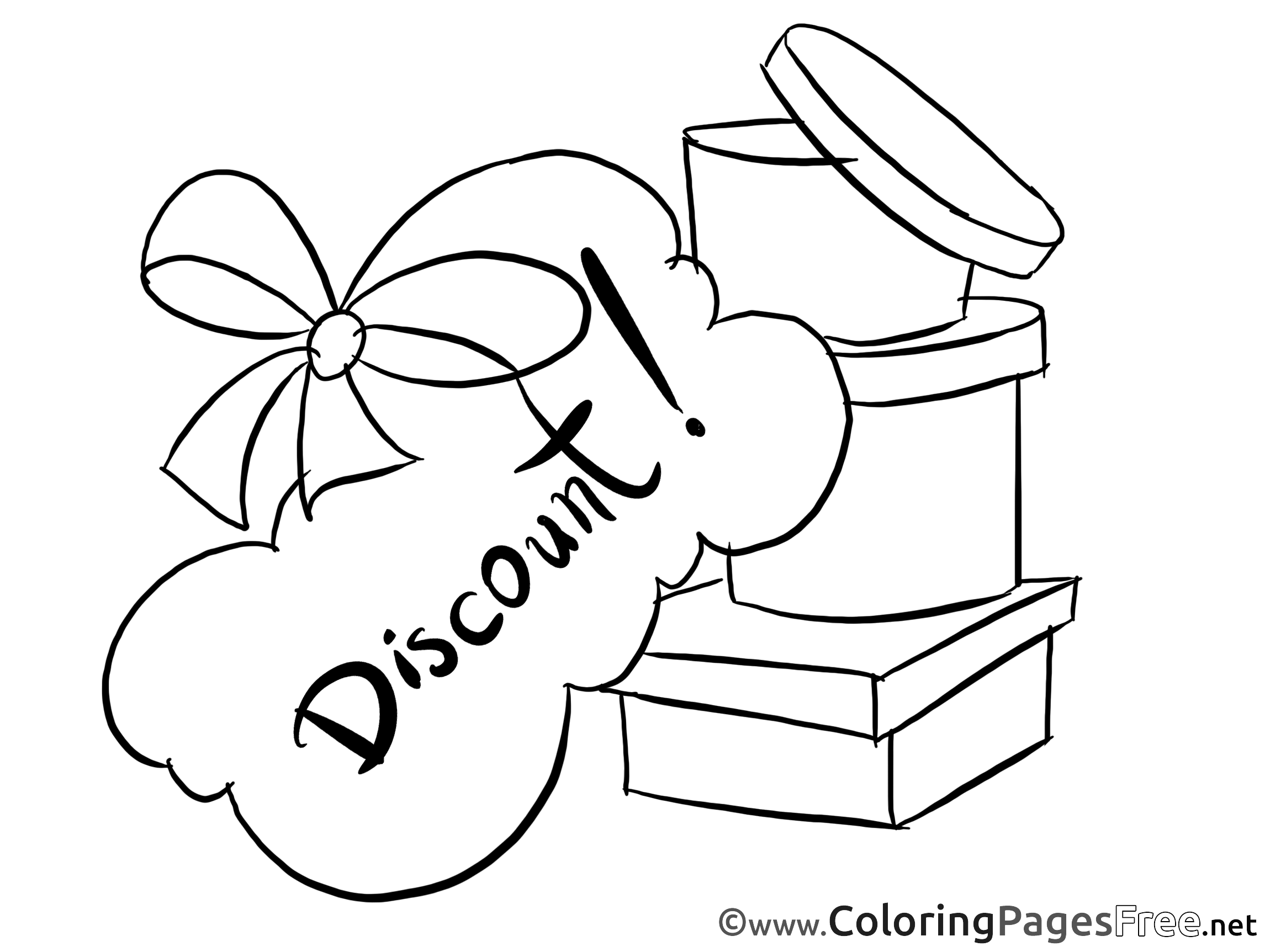 Discount free Colouring Page Business