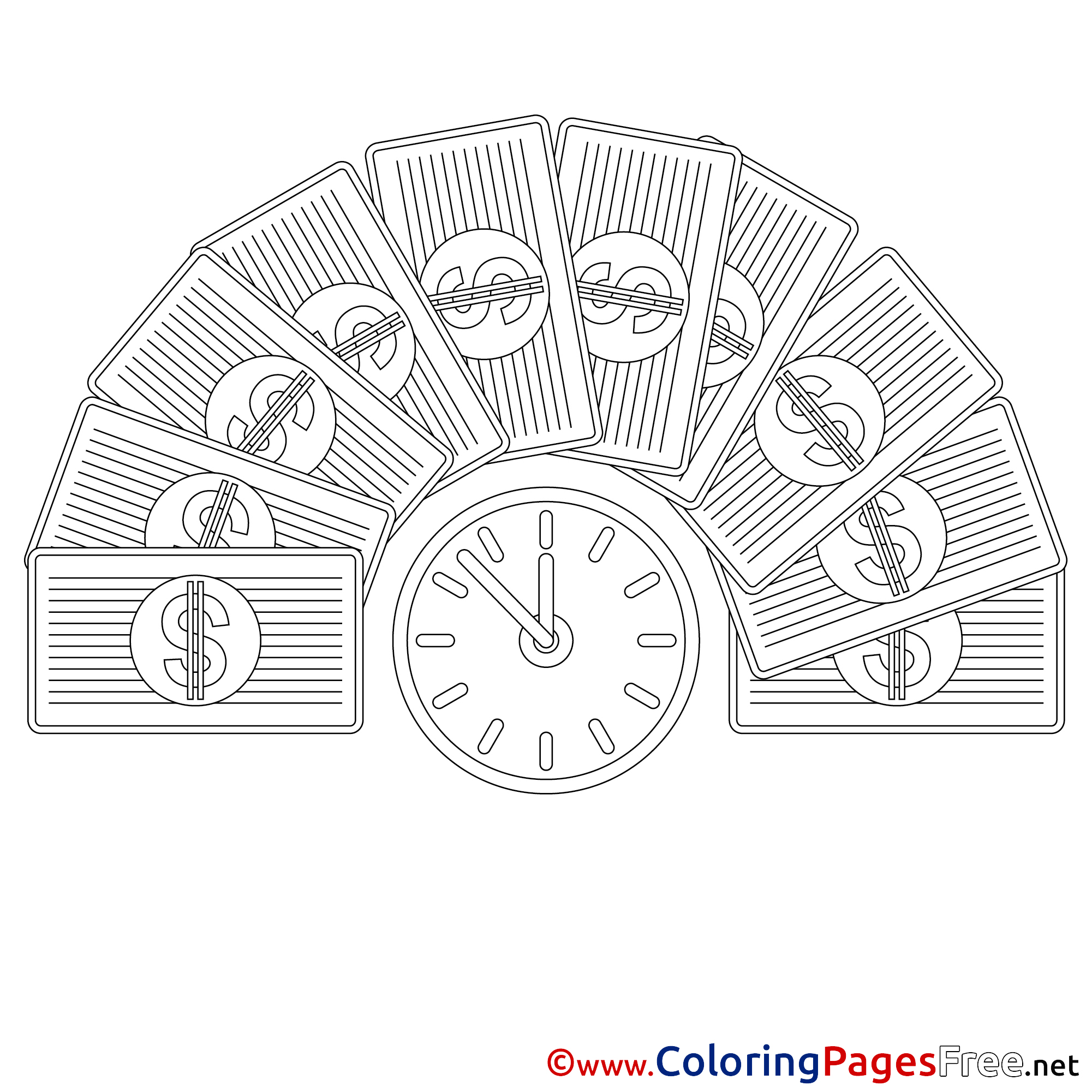 Money Tree coloring page | Free Printable Coloring Pages | 2001x2001