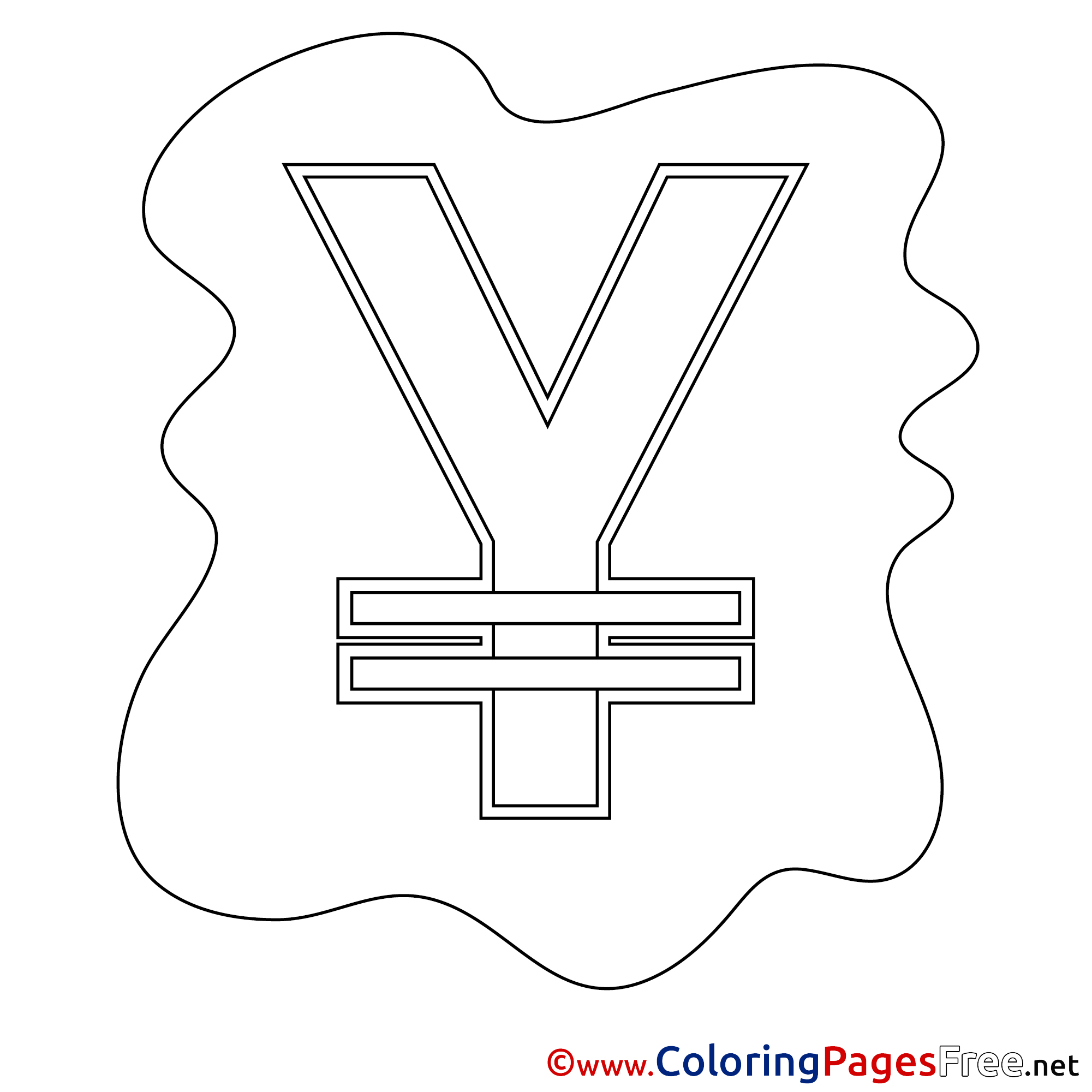 yen free colouring page business