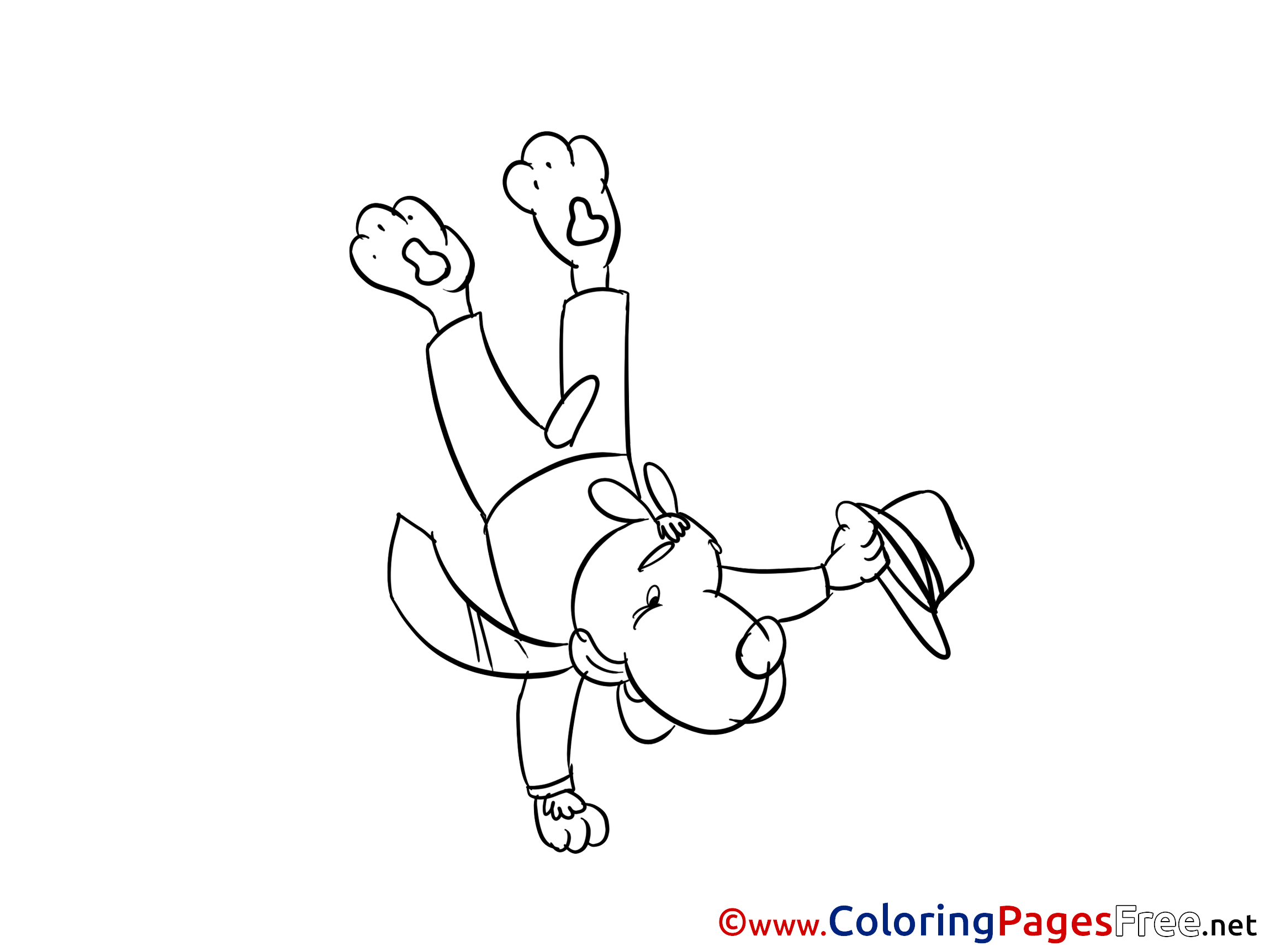 Title Of Coloring Sheet Acrobat For Children Free Pages