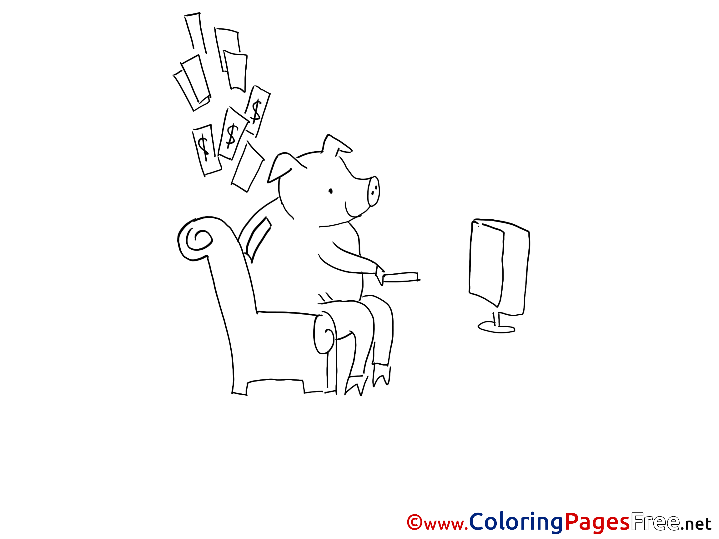 Pig Printable Coloring Sheets Download