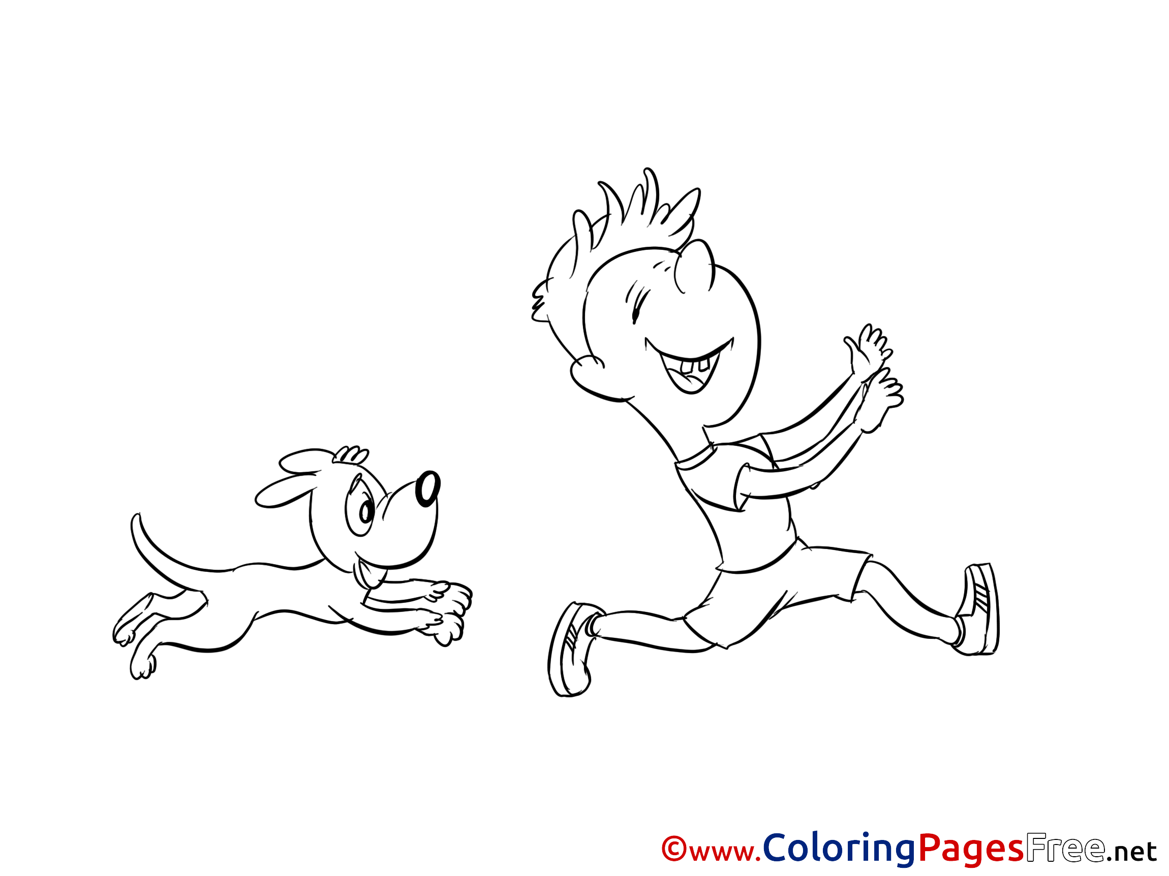 Puppy Printable Coloring Pages For Free
