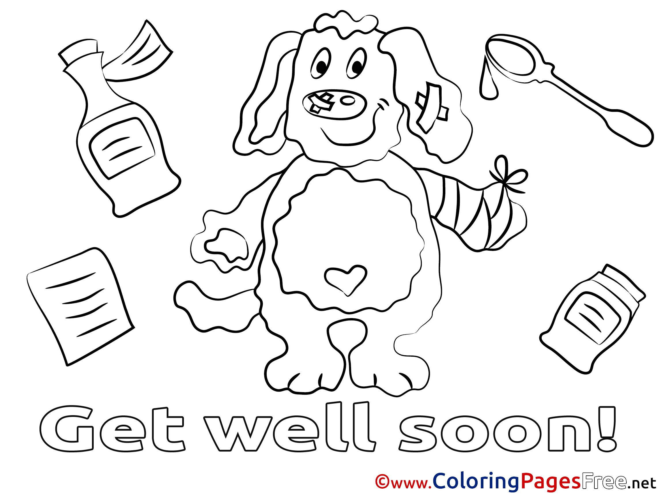 Preschool Get Well Coloring Cards