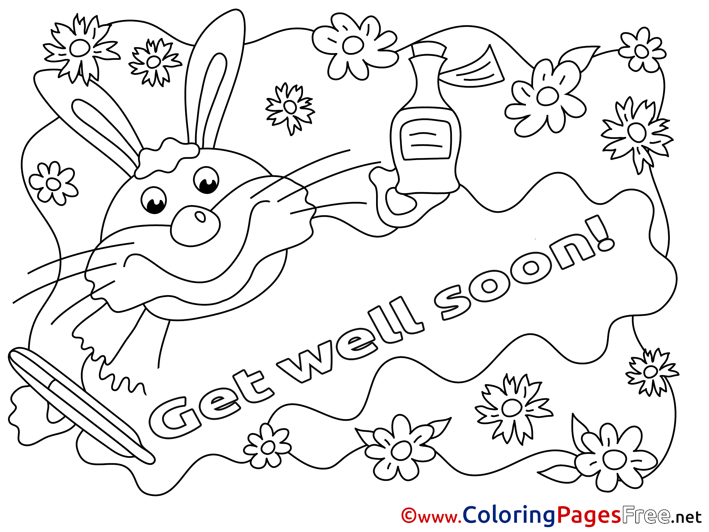 get well soon coloring pages contegri com