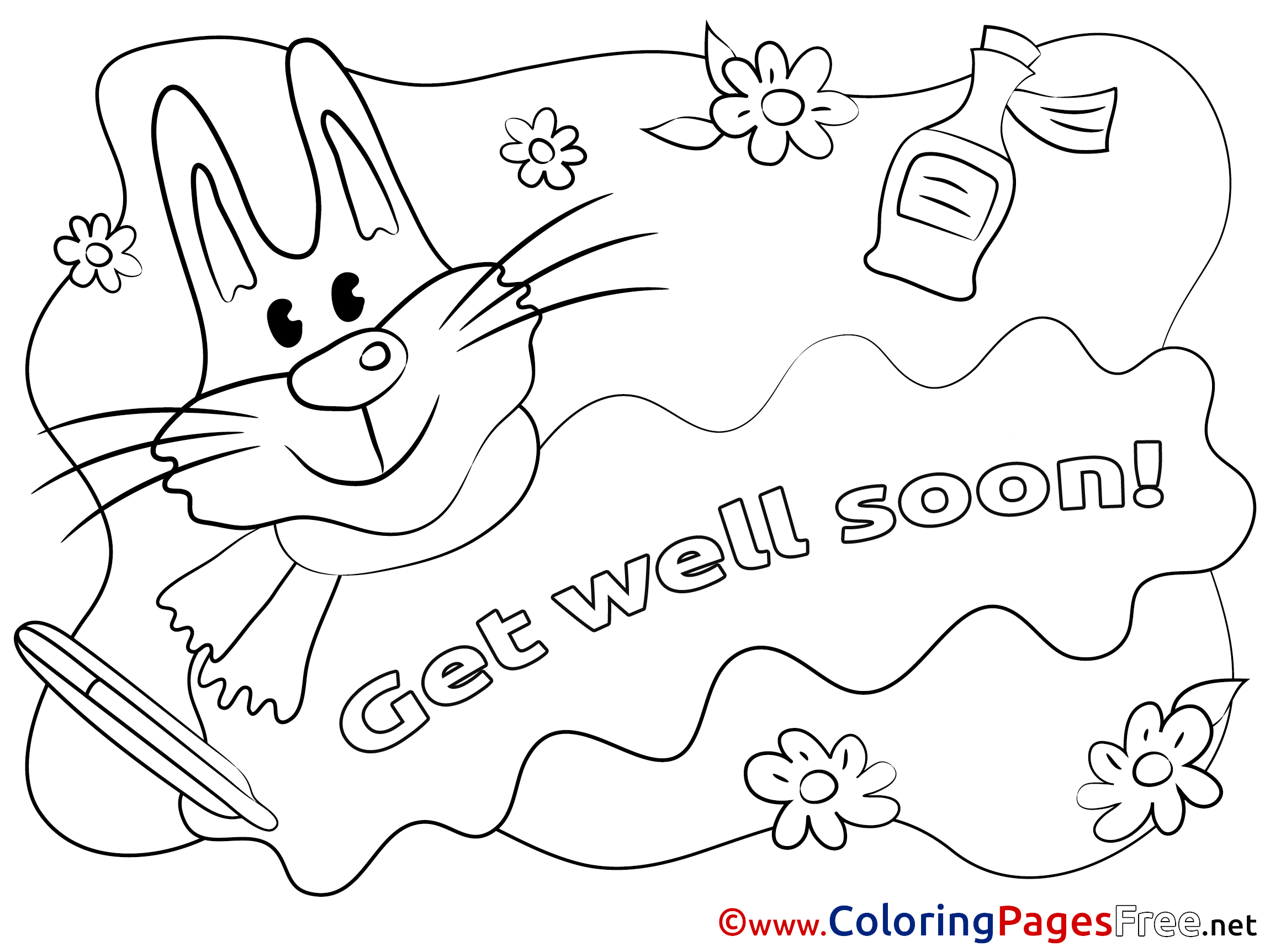 kids get well coloring pages - photo#13