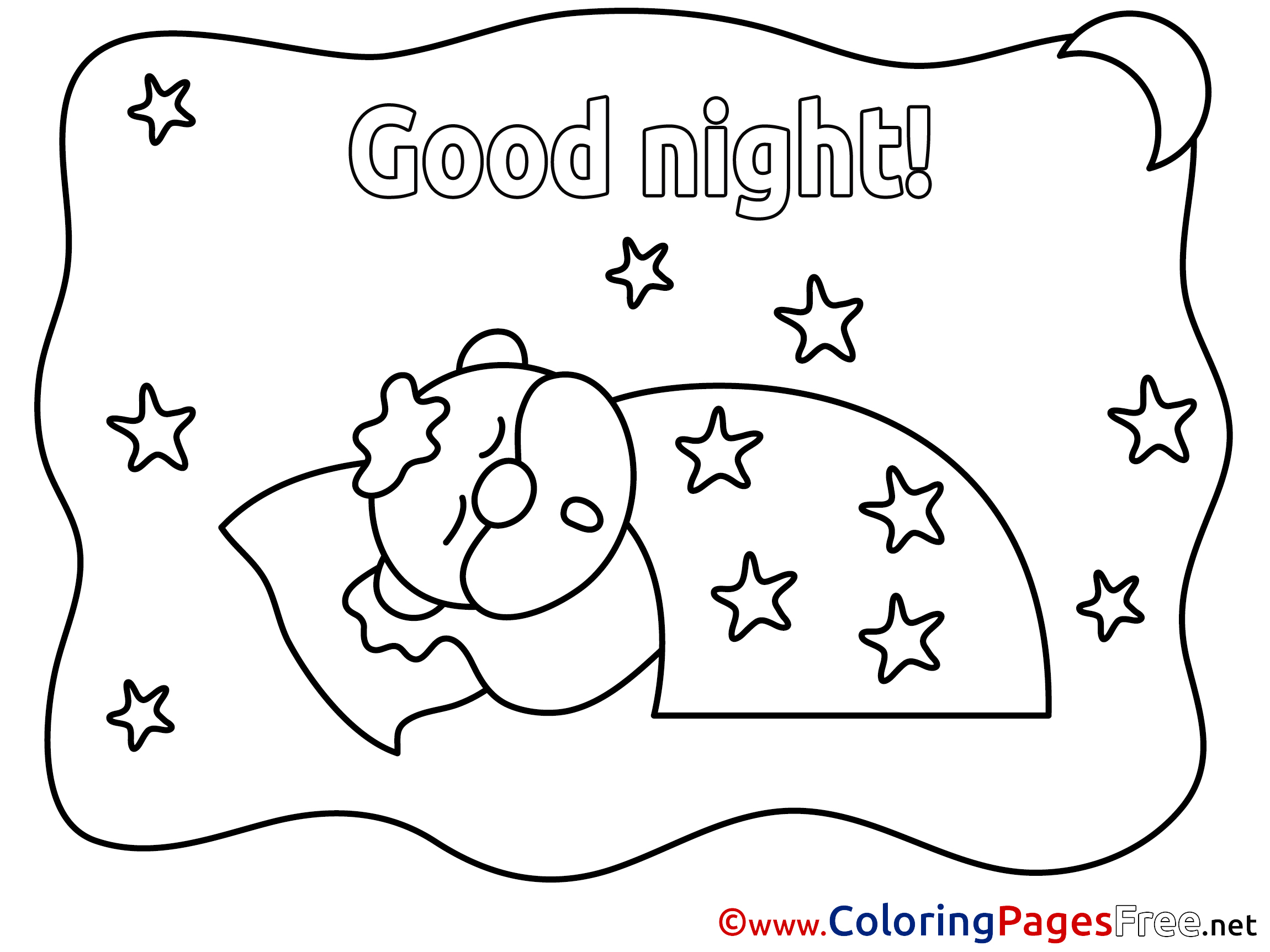 free night coloring pages - photo#20