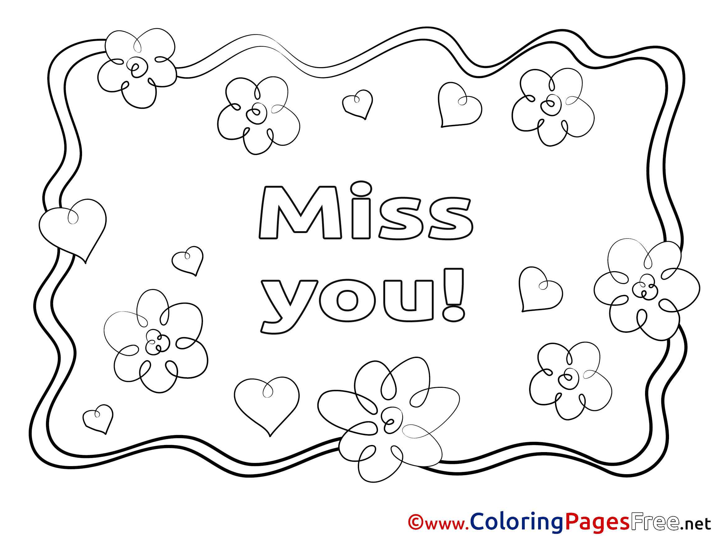 93 Coloring Pages I Miss You
