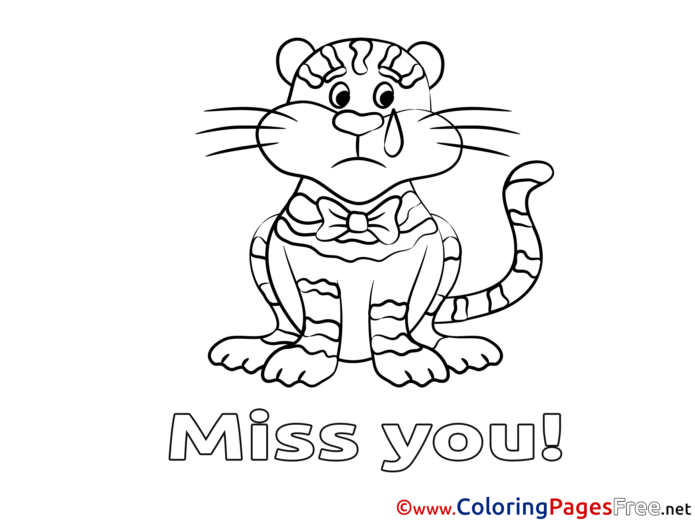 Miss You Coloring Pages Printable