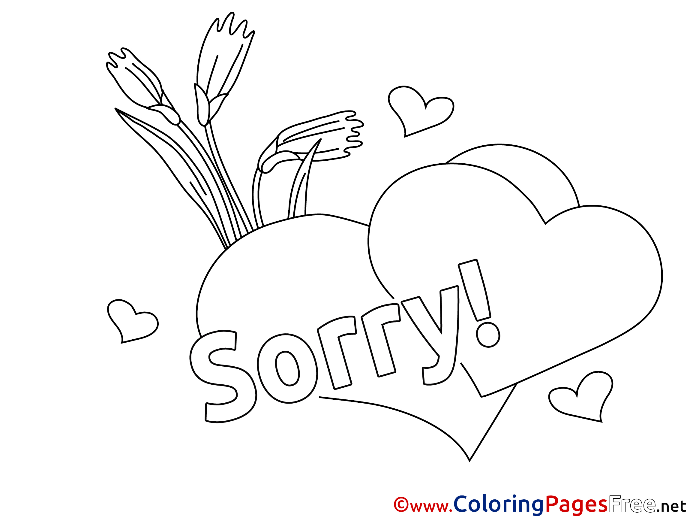 Flowers Sorry Coloring Pages
