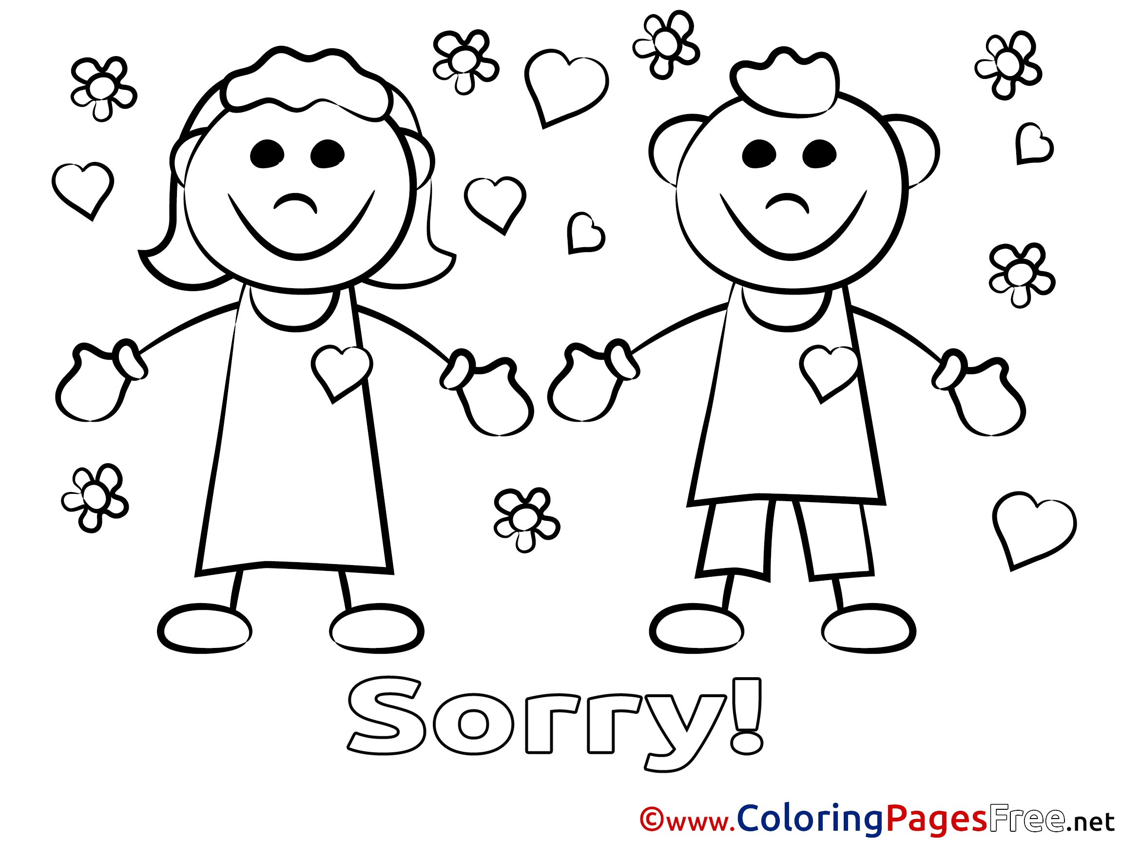 i am sorry coloring page - apology coloring pages oklmindsproutco sketch coloring page