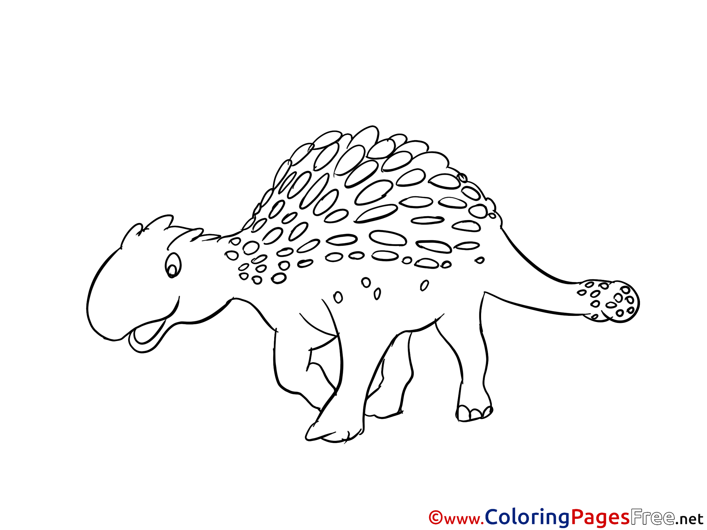 Ankylosaurus for Children free Coloring Pages