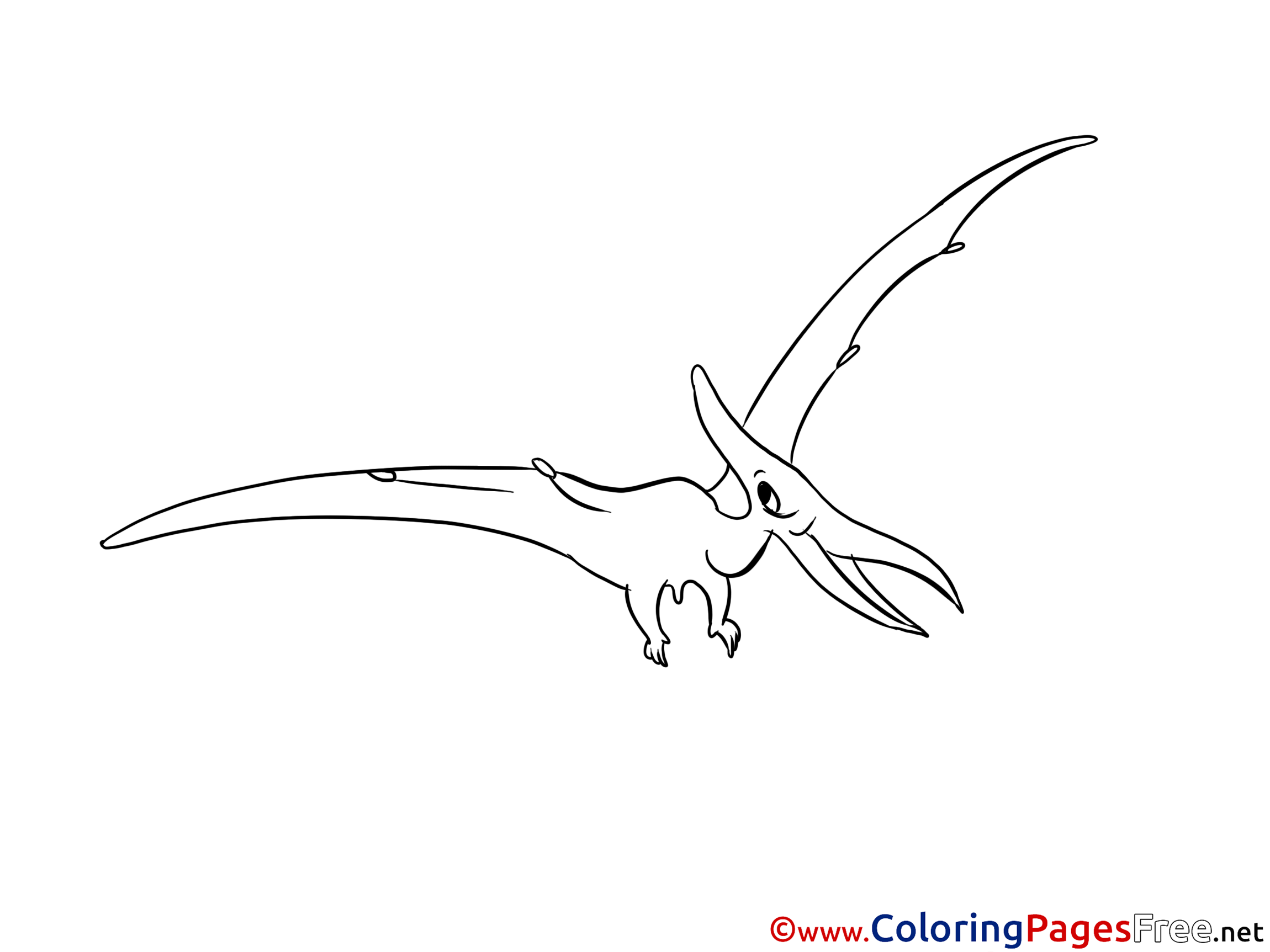 pterodactyl free printable coloring sheets