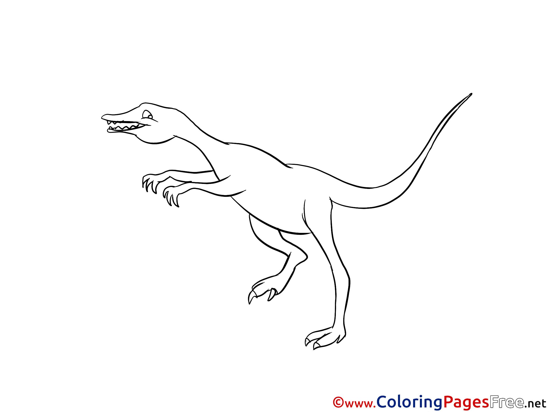 Velociraptor Printable Coloring Sheets Download