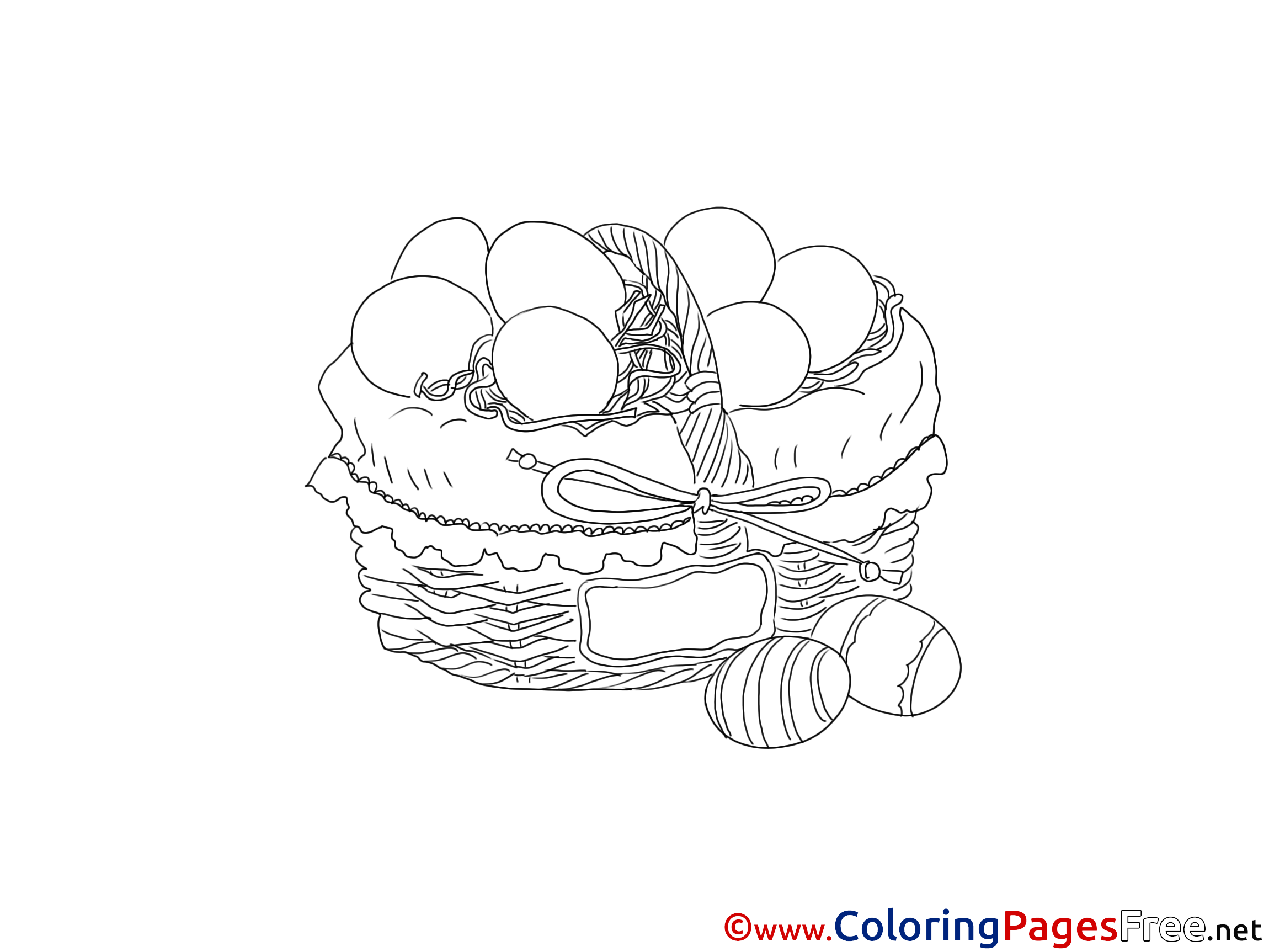 Holidays ~ Printable Basket Coloring Pages ~ Coloringtone Book | 1725x2300
